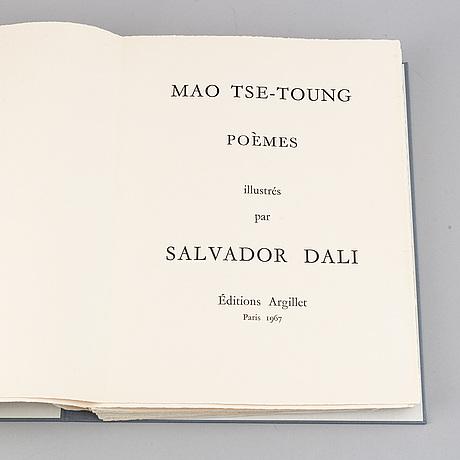"Salvador dalí, portfölj, ""mao tse-toung - poèmes""."