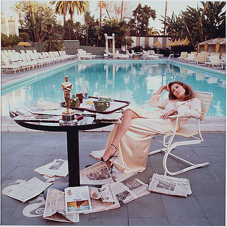 "Terry o'neill,  ""faye dunaway, hollywood, 1977"", c-print, signed and numbered 35/50."