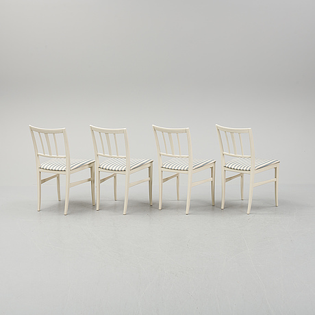 "Carl malmsten, a dinnertable and four chairs, ""talavid"", by carl malmsten, waggeryds möbelfabrik ab, second half of the."