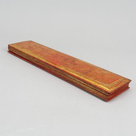 A thai/burmese prayer book/suttra, circa 1900.