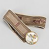 A japanese satsuma belt buckle, meiji period (1868-1912).