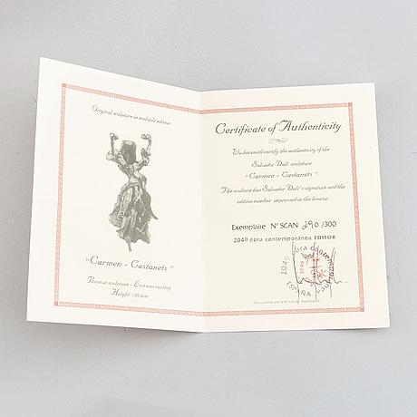 Salvador dalí, skulptur, brons signerad.  numrerad 290/300 på certificat.