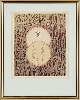 Max Ernst, lithograph in colours, 1975, signed 70/500.
