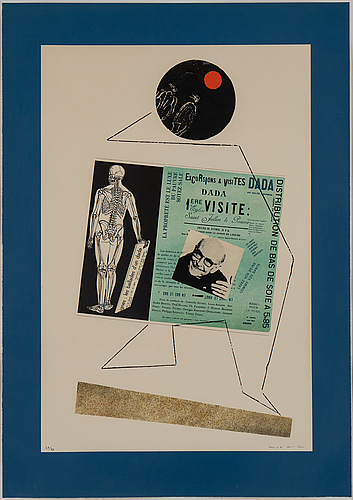 Max ernst, offset lithograph, 1972, signed 27/99.