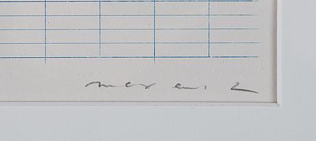 Max ernst, färgetsning, 1971, signerad 11/100.