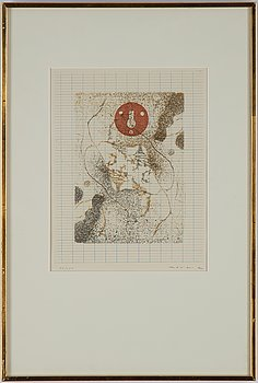 Max Ernst, etching in colours, 1971, signed 117100.