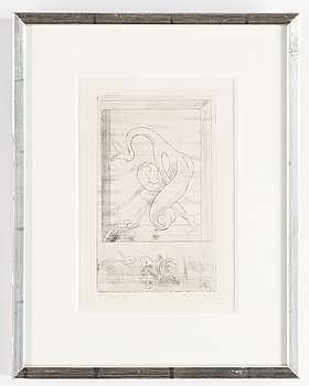 Max Ernst, etching, 1932, signed in pencil 2 état 1/2.