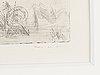 Max ernst, etsning, 1932, signerad med blyerts. 2 état 1/2.