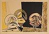 Max ernst, färglitografi, 1950, signerad xxxv/lx.