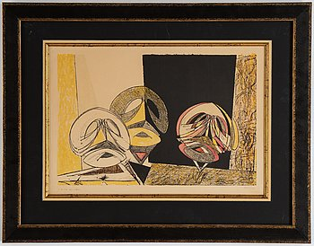 Max Ernst, lithograph in colours, 1950, signed XXXV/LX.