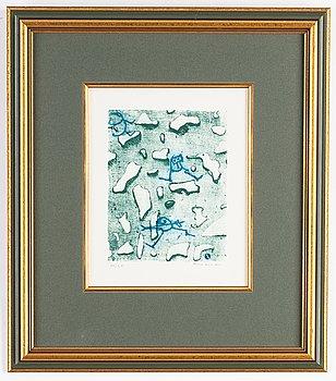 Max Ernst, färglitografi, signerad XV/LV.