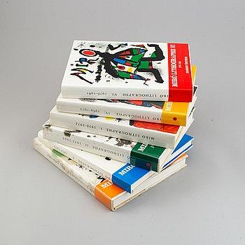 BOOKS, 6 volumes, Miró lithographe I-VI, F. Mourlot.