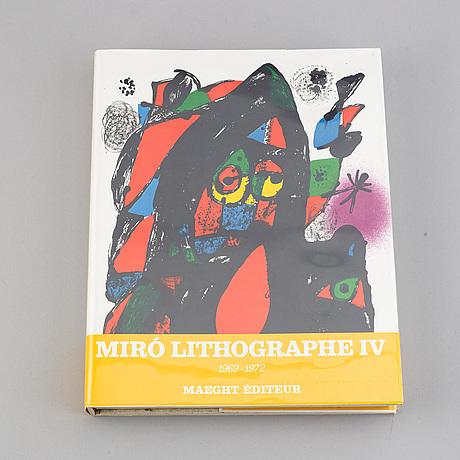 Böcker, 6 volymer, miró lithographe i-vi, f. mourlot.