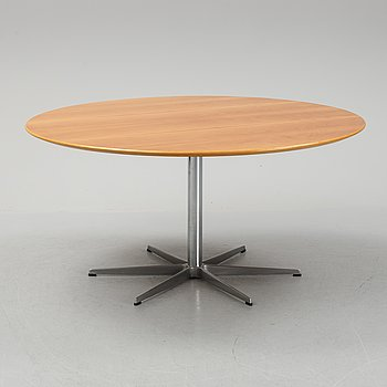 Arne Jacobsen, a cherry wood dining table, Fritz Hansen, Denmark,