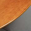 Arne jacobsen, a cherry wood dining table, fritz hansen, denmark,