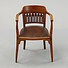 Otto wagner, attributed to. a stained beech and oak chair, austria, early 20th century.