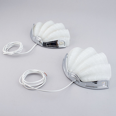 A pair of mid 20th century wall lights.