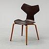 Arne jacobsen, a leather 'grand prix' chair, denmark.