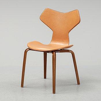 Arne Jacobsen, a leather 'Grand Prix' chair, Fritz Hansen, Danmark.