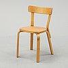 Alvar aalto, a model 65 birch chair, artek, finland.