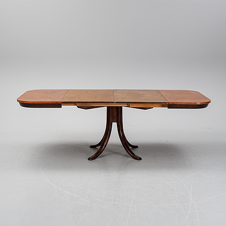 Axel einar hjorth, a root veneered dining table, nordiska kompaniet, 1938.