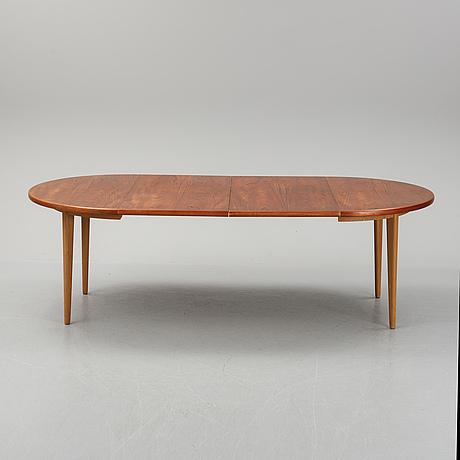 A teak dining table, joc, vetlanda, mid 20th century.