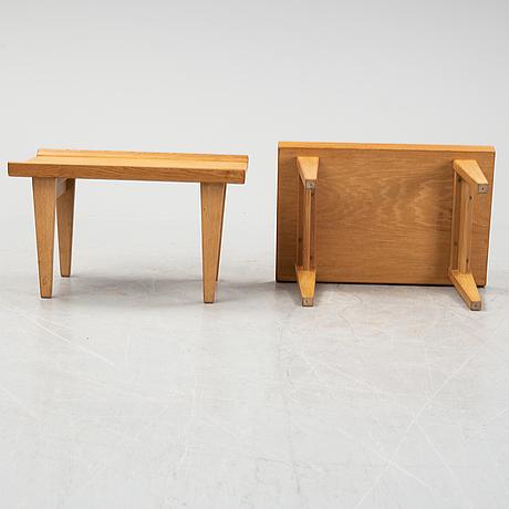 Erik wørts, a pair of oak side tables, 'novett', ikea.