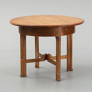 Nordiska Kompaniet, a birch Art Nouveau table, 1906.