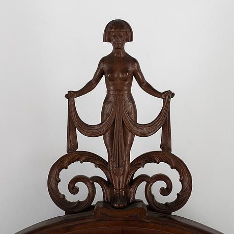 A mahogany mirror, 1920's.
