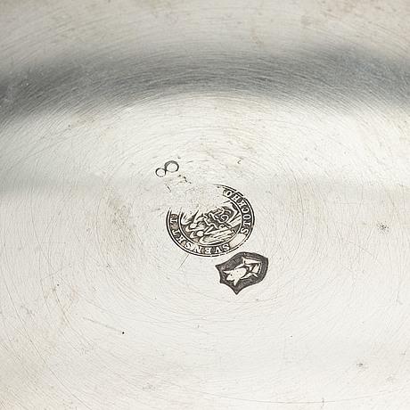 Anna petrus, a pewter bowl, svenskt tenn, stockholm, 1930.
