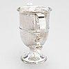 Joseph lock, a sterling silver double handle goblet, london 1779.