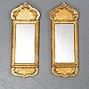 Two 20th century rococo style mirrors.