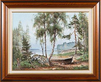 Jukka Saarinen, oil on canvas, signed.