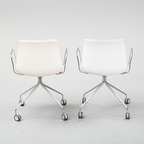 Lievore altherr molina, a pair of 'catifa 46', arper, italy.