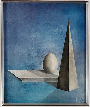 Johannes Olsson, oil on canvas, signed and dated 1975.