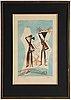 Max ernst, färglitografi, 1950, signerad 168/200.