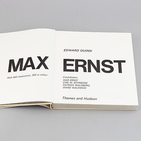 """Book, """"max ernst"""", av edward quinn, utgiven av thames and hudson, 1977."""