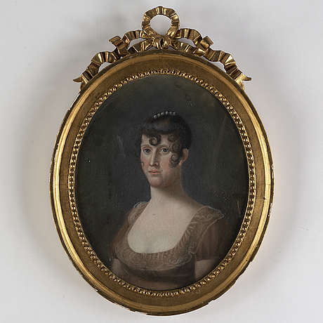 Unknown artist, pastel, around 1800.