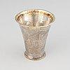 A swedish 18th century parcel-gilt silver beaker, maker's mark johan pettersson berg, lnorrköping, 1763.