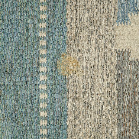 A carpet, flat weave, ca 380-381 x 240-246 cm, sweden around the middle of the 20th century.