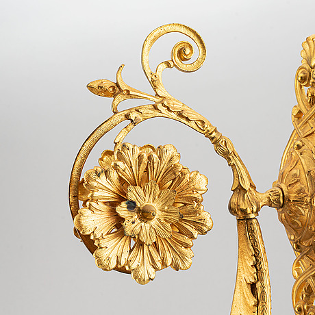 A pair of wall sconces from the late 19th century.