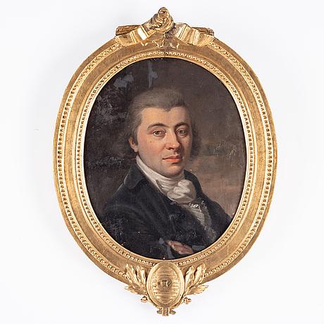 Okänd konstnär, 1700-tal, olja på duk. med gustaviansk ram (tidigare lampett).