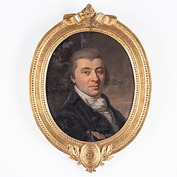 Unknown artist, 18th Century, oil on canvas. With a gustavian frame.