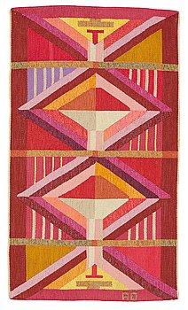 262. Agda Österberg, a carpet, flat weave, ca 196-201,5 x 115,5-116,5 cm, signed AÖ.