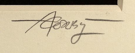Anton corbijn, silvergelatin photo signed.