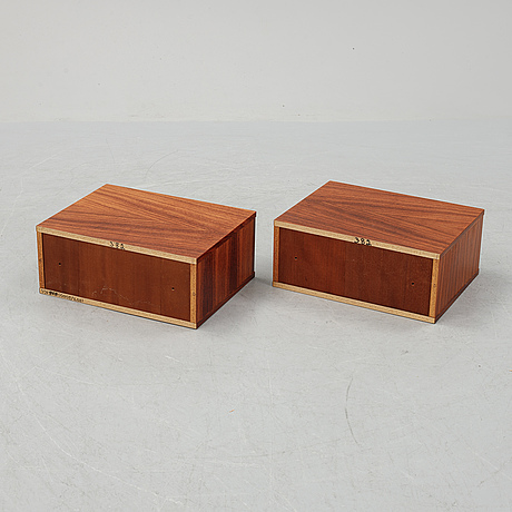 A pair of rosewood veneered coffee tables, 1960's/70's.