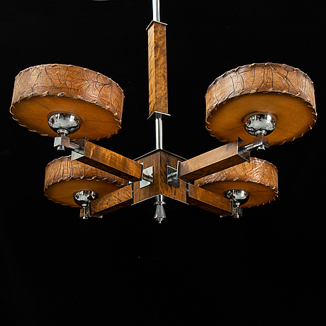 A 1930-40's art déco ceiling lamp.