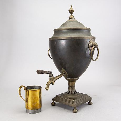 A 19th century copper samovar.