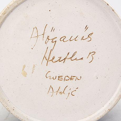 Hertha bengtson, a signed ceramic vase.