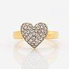 Heart shaped brilliant-cut diamond ring.